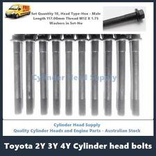 Toyota Hiace Hilux Forklift 3Y 4Y Cylinder Head Bolt Kit