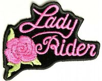LADY RIDER PATCH SCOOTER HELMET EMBROIDED FOR VEST SHIRT CAP HELMET JACKET BOOTS
