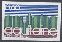 FRANCIA REGIÓN DE AQUITANIA Nº1864 SELLO NO DENTADO IMPERF 1976 NEUF MNH