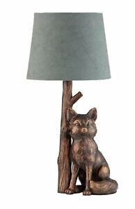 Fox Lamp Shade Table Home Modern Decorative Fox Bedside Reading Light New