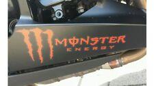 2 X Monster Aufkleber Schw/Rot Turbo Tuning Sticker Motorrad Kawasaki