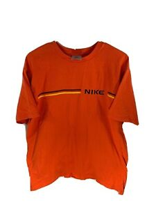 Vintage Nike Tee Shirt Rare Orange Short Sleeve Tee