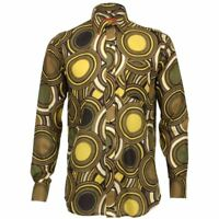 Mens Shirt Loud Originals REGULAR FIT Circles Green Retro Psychedelic Fancy