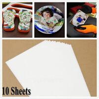 10Pcs Fashion DIY Light Fabric A4 Heat Transfer Paper Iron-On T-Shirt Painting