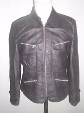 LATE 40's GERMAN MEN/WOMEN MOTORCYCLE LEATHER COAT  IN  EXCELLENT CONDITION