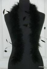 Echarpe Tour de cou habillé marabout et plumes de coq noir