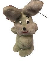 "Vintage 15"" Knickerbocker Green Bunny Rabbit Plush"