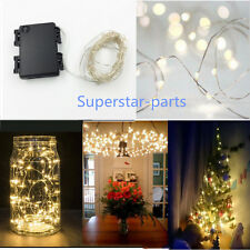 10M 100 LED Battery Operated Silver String Fairy Light Remote Timer Xmas Party