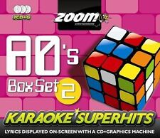 Zoom Karaoke 80s Volume 2 Superhits 3 Disc Box Set CD + G New Sealed
