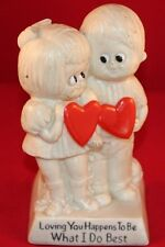 """6"""" R & W BERRIES CO 1970's FIGURINE  """"Loving You Happens To Be What I Do Best"""""""