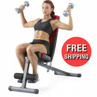 ADJUSTABLE WEIGHT Workout BENCH Press Flat Incline Abs Decline Exercise Strength