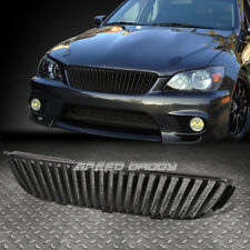 FOR 01-05 IS300 XE10 BLACK FRONT SPORT BUMPER BADGELESS VERTICAL GRILL/GRILLE