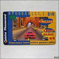 Telstra Timezone Tree Car A971133a 1432 $10 Phonecard (PH3)