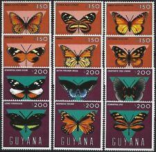 """2013 """"Guyana"""" Butterflies, Farfalle, Papillons complete set VF/MNH! CAT 28$"""