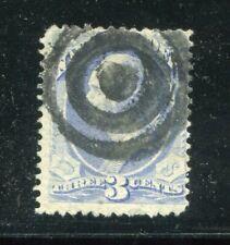 (1873) #O37 3¢ NAVY Dept. used stamp Bullseye cancel