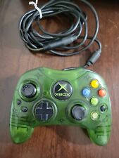 Original og Xbox Controller Wired S Type Genuine Official Green OEM Tested D