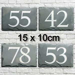 House Number Sign Slate Door Plaque Road Name Personalised Engraved