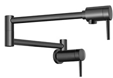 Delta Faucet Contemporary Wall-Mount Pot Filler Faucet 1165LF-BL - Black
