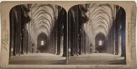 Interno la Cattedrale di Strasburgo Fotografia Stereo Vintage