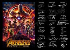 *NEW LISTING* STUNNING AVENGERS INFINITY WAR SIGNED / AUTOGRAPHED PRINT
