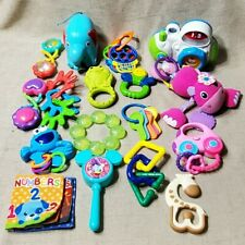 16 Infant Toy Rattles Fisher Price Teethers Lamaze Hand Brain Learning Playing
