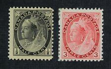 Ckstamps: Canada Stamps Collection Scott#74 Victoria Mint Nh Og #78 Mint H Og