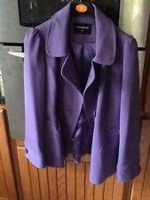 Ladies Purple Winter  Coat.size 12
