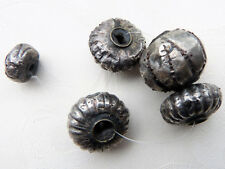 Alte Silberperlen aus Indien, Antique Silver over Lac Core Bead, India, 27.93 g