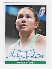 2007 WNBA Autograph #25 Amber Jacobs Minnesota Lynx