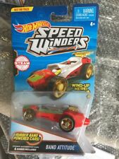 New. Hot Wheels Speed Winders Red Band Attitude Vehicle. Includes 4 Extra Bands