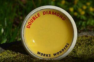 """Vintage DOUBLE DIAMOND Beer WORKS WONDERS Bar Peanut Dish Bowl England 4.5"""""""