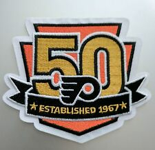 """Philadelphia Flyers 50 Years Limited Edition Iron On Patch 4"""" x 3 3/4"""" Free Ship"""