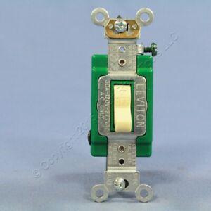 Leviton Ivory INDUSTRIAL DOUBLE POLE Toggle Wall Light Switch 30A Bulk 3032-2I
