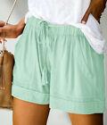 Women's Summer Casual Comfy Drawstring Elastic Waist Shorts Pants with Pockets