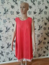 peach pleated dress for ladies