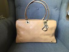 Christian Dior Beige Leather East West Handbag