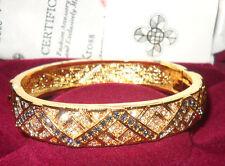 "Camrose & Kross Jacqueline Jackie Kennedy 7"" Zig Zag Bangle Bracelet"