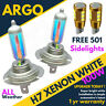 H7 501 100w Upgrade Super Bright Halogen Clear Bulbs 8500k X 2 Ice Super White