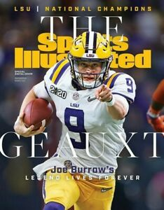 Joe Burrow LSU Tigers National Champs Sports Illustrated cover Photo-select size