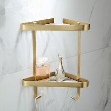 Corner Shelf Bathroom Shower Rack Brass Brushed Caddy Wall Mounted Shelves Tools