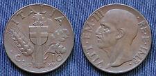 MONETA COIN REGNO ITALIA VITTORIO EMANUELE III CENTESIMI 10 IMPERO 1937 XV°EF