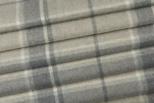 1.95m Laura Ashley 'Highland Check' in Steel FR Upholstery Fabric