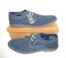 Zapatos Para Hombre Cuero de Ante Azul Marino resbalón en el nuevo formal vestido de espuma de memoria de tamaño 7-12
