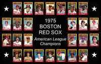 1975 BOSTON RED SOX World Series POSTER Wall Art Man Cave Decor Fan Xmas Gift 75