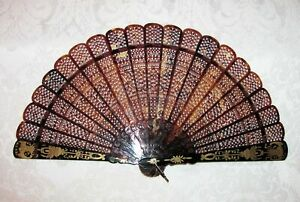 Chinese Qing Dynasty Export Fan Circa 1840