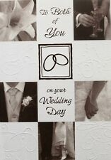 To both of you on your Wedding Day greeting card, Bride and Groom, brand new