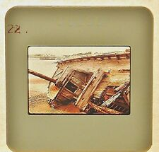 Vintage Kodachrome Professional Color Slide 35mm Shipwreck