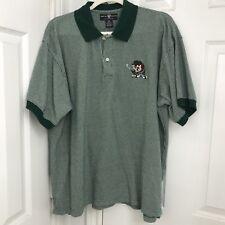 Warner Bros Studio Mens XXL Golf Polo Shirt Taz Devil Green 1995 Novelty Sport