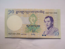 BHUTAN 10 NGULTRUM BANK NOTE EXCELLENT UNCIRCULATED CONDITION 2006