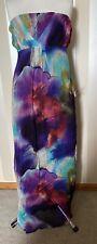 Asos  Strapless maxi dress tie dye boho hippie beach Size 14 Green Purple Blue